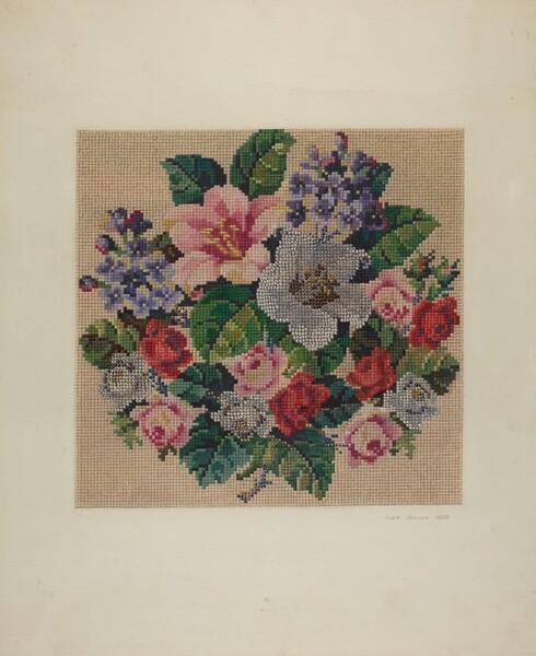 Gros Point Needlework - Flowers