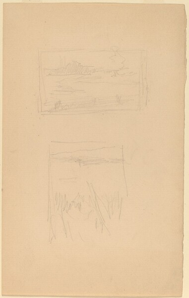 Two Sketches of Landscape Pictures hung at the Society of British Artists