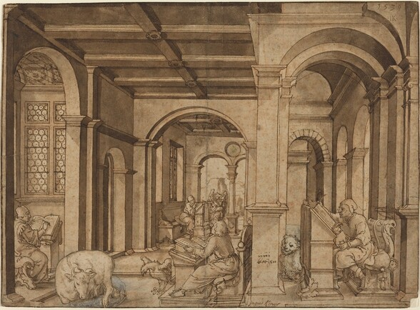 Four Evangelists in a Scriptorium