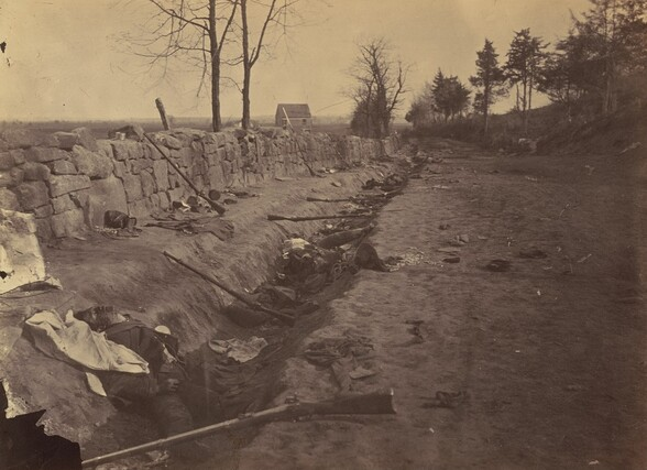 Stone Wall, Rear of Fredericksburg, with Rebel Dead