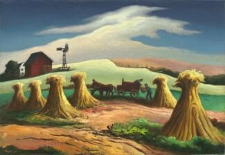 Thomas Hart Benton, Corn and Winter Wheat, 19481948