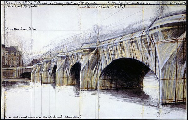 The Pont Neuf Wrapped, Project for Paris [bottom panel]