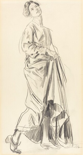 Standing Draped Woman