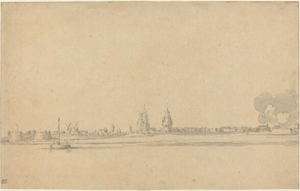 View of a Dutch Town (Delft?)