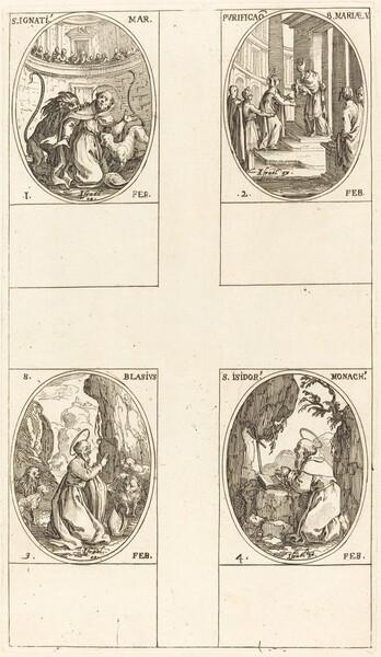 St. Ignatius; Purification of the Virgin;  St. Blaise; St. Isidore