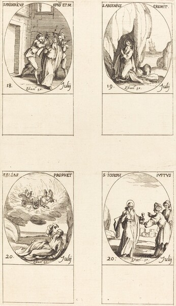 St. Frederick; St. Arsenius, Hermit; St. Elias, Prophet; St. Joseph the Just