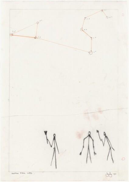 Leo [sketch (on Mylar)]