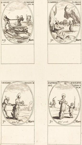 Sts. Jonas & Barachisius; St. John Climacus, Abbot; St. Benjamin; Sts. Quirinus & Bal