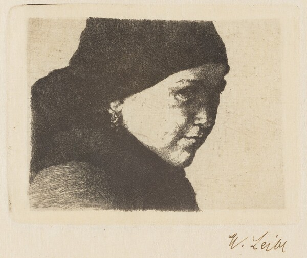Therese Bauer (Head of a Young Farmgirl Facing Right)