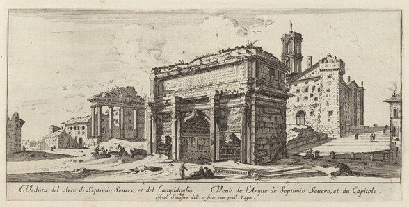 Veduta del Arco di Septimio Severo, et del Campidoglio