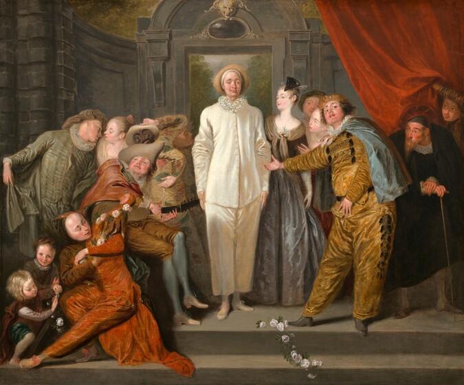 Antoine Watteau, The Italian Comedians, probably 1720
