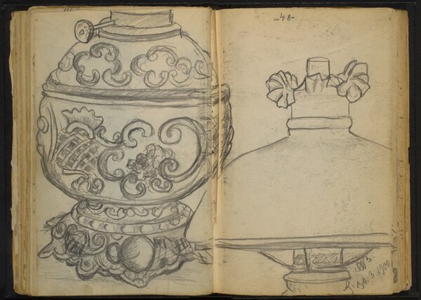Ornate Tureen and Lampshade