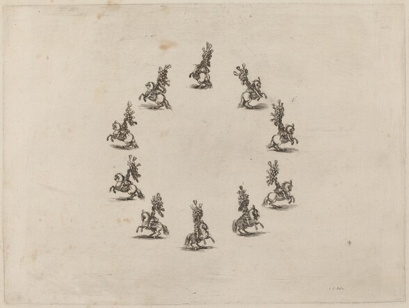 Ten Cavaliers in a Circle