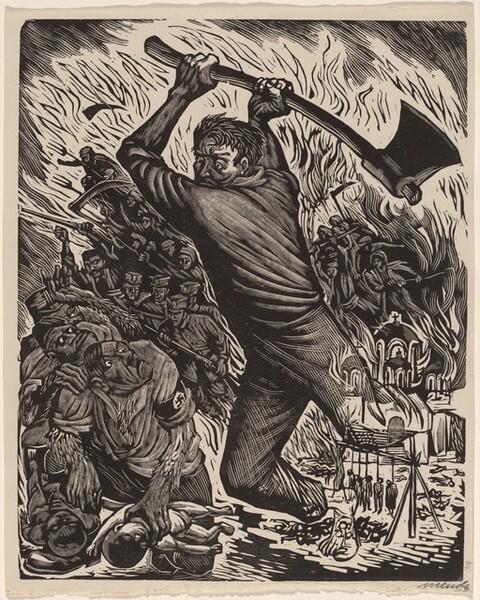 <p>Leopoldo Méndez, The Peoples Revenge, 1943