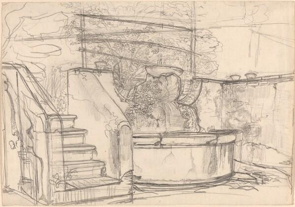 Corner of a Garden Court