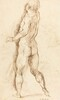 Nude Man Seen from Behind [verso]