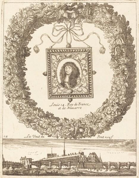 La veue du Pont Neuf; Louis XIV Roy de Franceet de Navarre