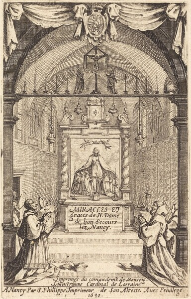 Frontispiece for the Miracles and Graces of Our Lady of Bon-Secours-les-Nancy