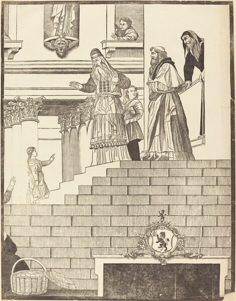 Presentation of the Virgin in the Temple [right plate]