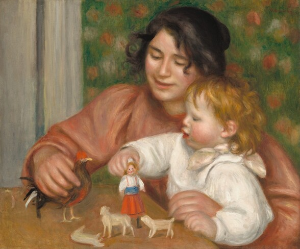 Child with Toys - Gabrielle and the Artist