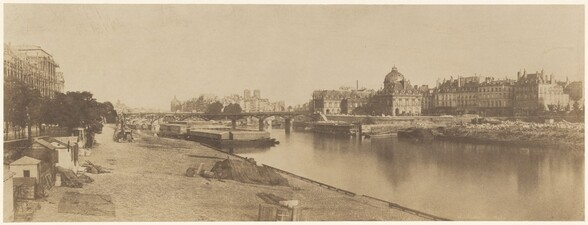 The Seine from the Pont du Carrousel Looking towards Notre Dame