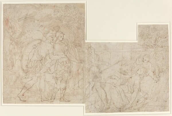 Three Soldiers Discovering a Sleeping Woman