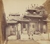 Entrance to the Five Genii Temple, Canton, April 1860