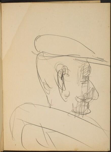 Mann mit Schurrbart und Mütze im Profil (Man with Moustache in Profile) [p. 29]