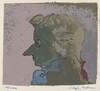 Untitled (Mozart Profile to Viewer's Left - Pink Background)