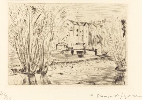 The Sluice at Serbonne (La Vanne a Serbonne)
