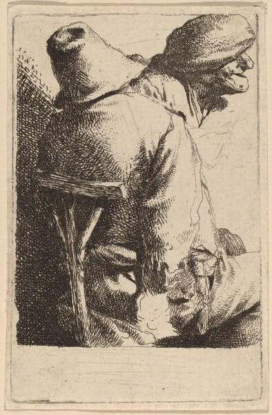 The Seated Peasant and His Wife