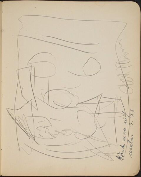 Kompositionsskizze mit Bezeichnung (Three Figures) [p. 21]