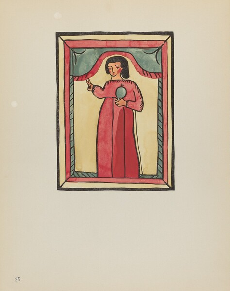 Plate 25: The Lost Child: From Portfolio Spanish Colonial Designs of New Mexico