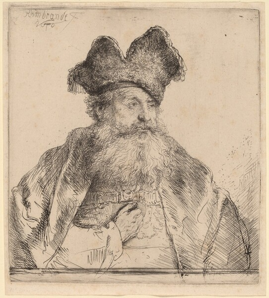 Old Man with a Divided Fur Cap