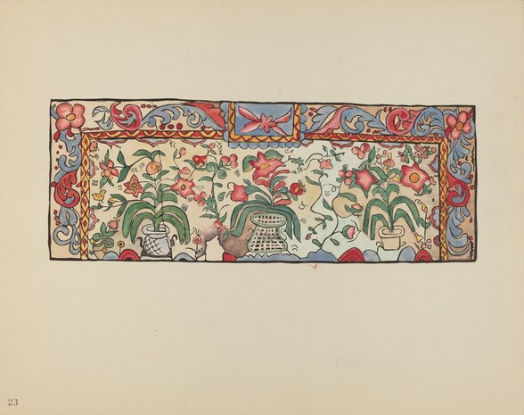 Plate 23: Painting on Buckskin: From Portfolio Spanish Colonial Designs of New Mexico