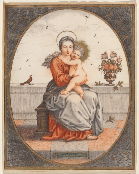 The Madonna and Child Seated before a Ledge