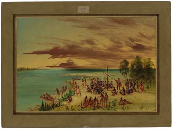 La Salle Claiming Louisiana for France.  April 9, 1682