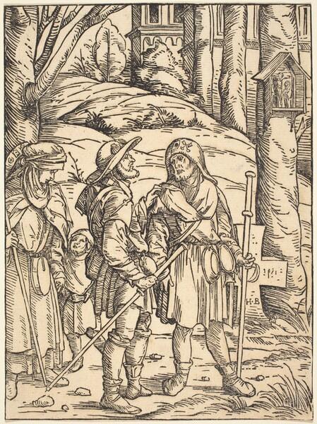 Pilgrims at a Wayside Shrine