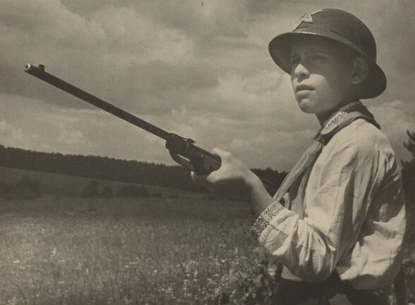 Pioneer with Gun