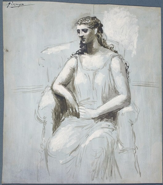 Young Woman Seated in an Armchair