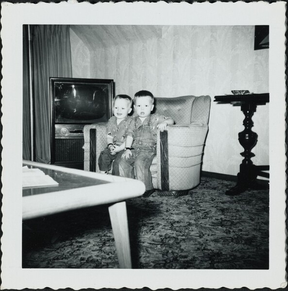 Untitled (Two boys on couch)
