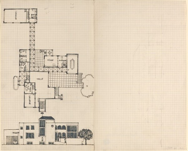 Plan and Elevation of a House