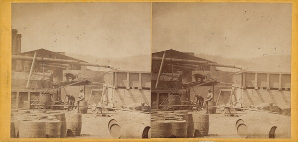 Back of Stills, Clark & Sumner, Standard Petroleum Refinery, Pittsburg, Pennsylvania