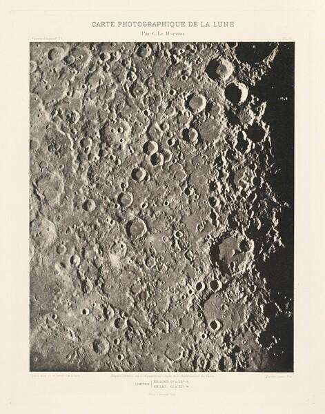 Carte photographique de la lune, planche III (Photographic Chart of the Moon, plate III)