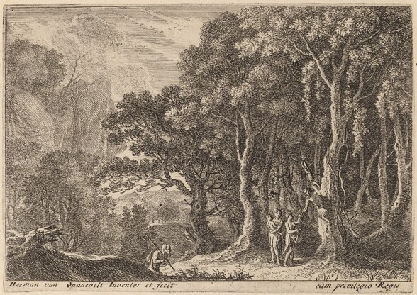 A Satyr Gathering Fruit