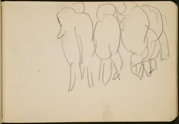 Zirkusnummer mit Elefanten (Circus Act with Elephants from Behind) [p. 69]