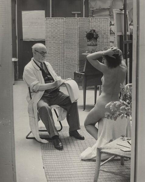 Matisse and His Model at the Villa d