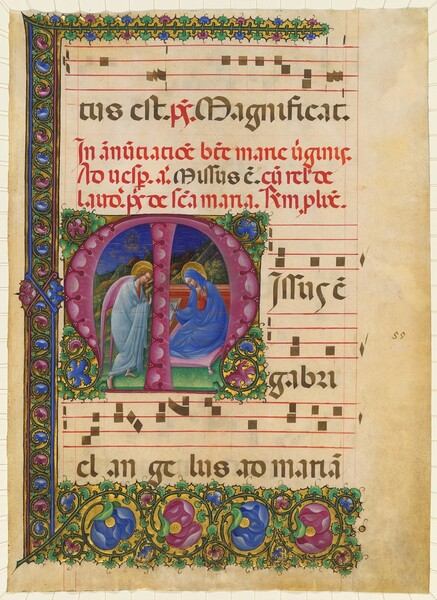 The Annunciation to the Virgin