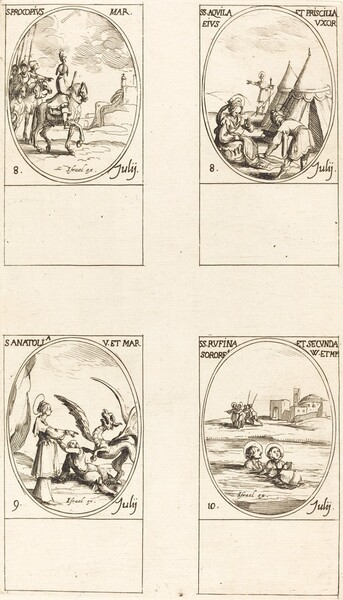 St. Procopius; Sts. Aquila and Prisca; St. Anatolia; Sts. Rufina and Secunda