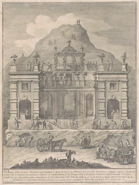 The Seconda Macchina for the Chinea of 1778: A Dwelling near Monte Testaccio